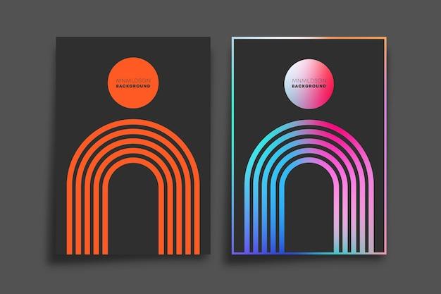 Farbverlauf und minimales liniendesign für tapeten, flyer, poster, broschüren, typografie oder andere druckprodukte.