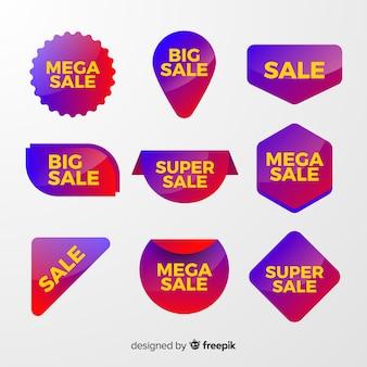 Farbverlauf verkauf etikettenkollektion