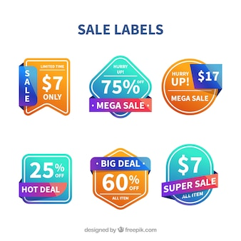 Farbverlauf verkauf label-sammlung