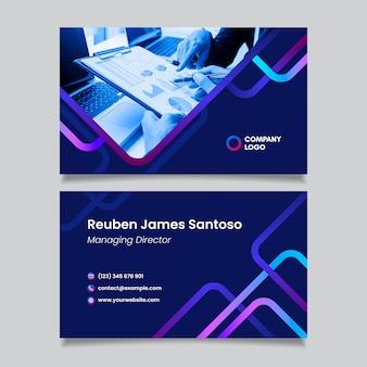 Farbverlauf visitenkarte mit foto