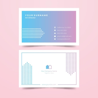 Farbverlauf visitenkarte