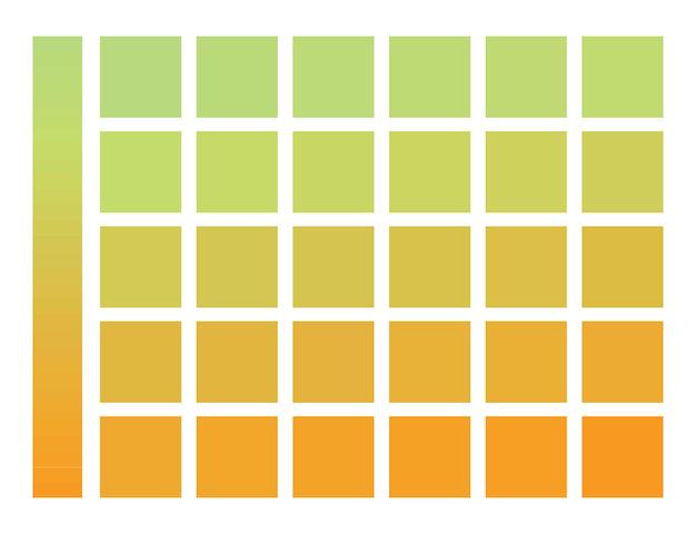 Farbverlauf von grün zu orange