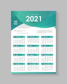Farbverlauf wand kalender design