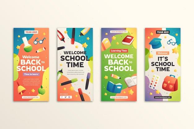 Farbverlauf zurück zur instagram-geschichtensammlung der schule