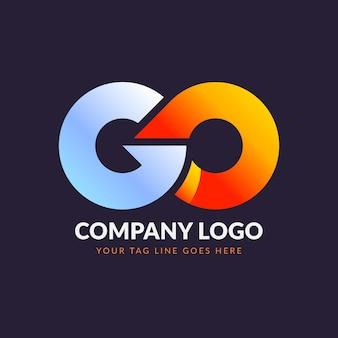 Farbverlaufs-go-logo-vorlage