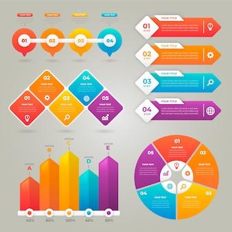 Farbverlaufs-infografik in lebendigen farben