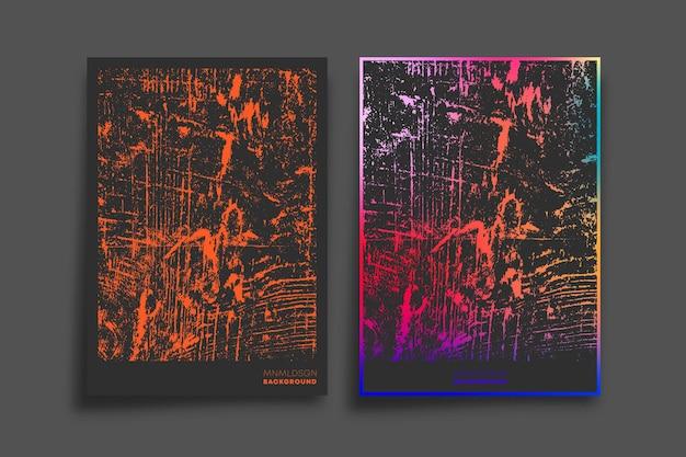 Farbverlaufs- und grunge-texturdesign für tapeten, flyer, poster, broschüren, typografie oder andere druckprodukte.