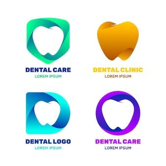 Farbverlaufs-zahnlogo-vorlagenpaket