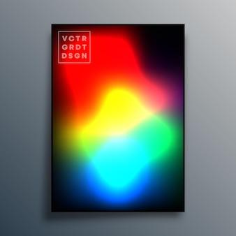 Farbverlaufshintergrund für poster, tapeten, flyer, broschürencover, typografie oder andere druckprodukte. vektor-illustration.