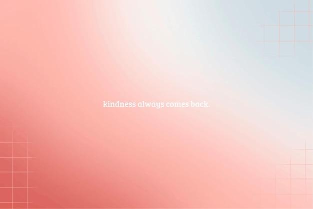 Farbverlaufshintergrund mit linearen details und inspirierendem zitat