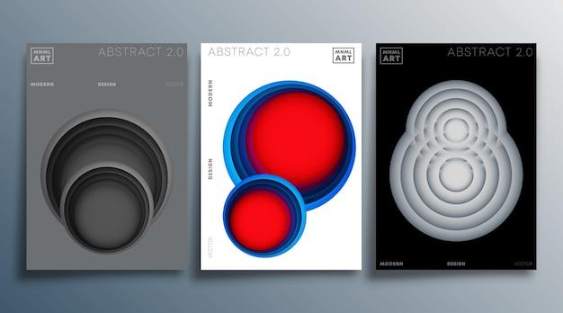 Farbverlaufskreise für flyer, poster, broschürencover, hintergrund, tapeten, typografie oder andere druckprodukte vektorillustration.
