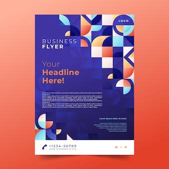 Farbverlaufsmosaik-flyer