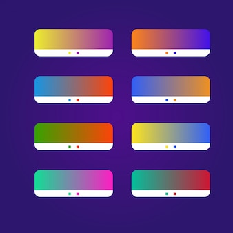 Farbverlaufspalette sammlung