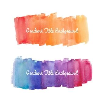 Farbverlaufssatz von aquarellpinselstrichen