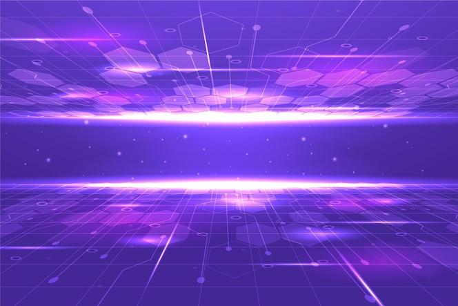 Farbverlaufstechnologie und futuristischer hintergrund