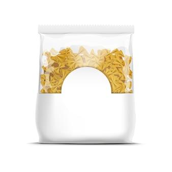 Farfalle fliege pasta verpackungsvorlage isoliert