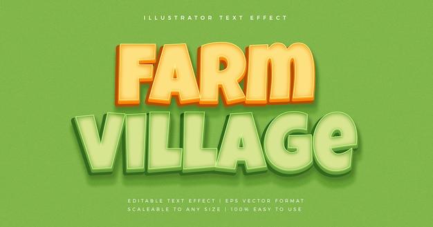Farm bold text style schriftart effekt