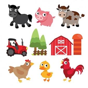 Farm design-elemente