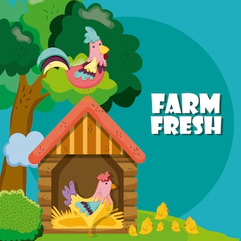 Farm frische cartoons