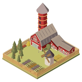 Farm isometric design