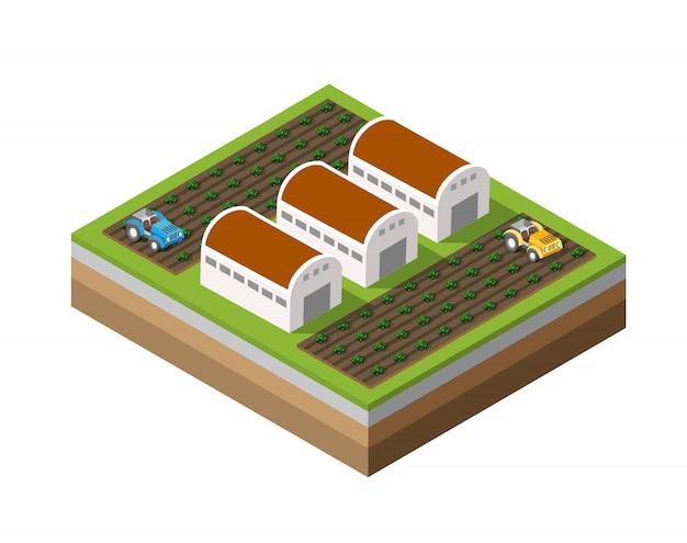 Farm isometrisch dimensioniert