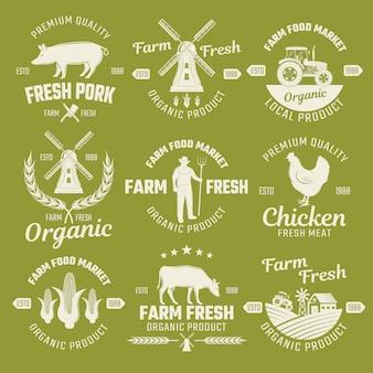 Farm monochrome embleme