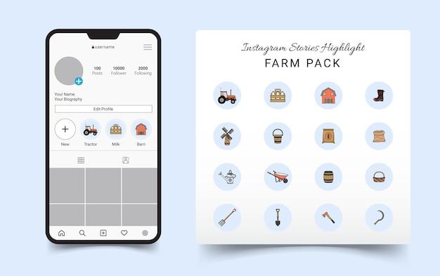 Farm pack instagram stories highlight-symbol