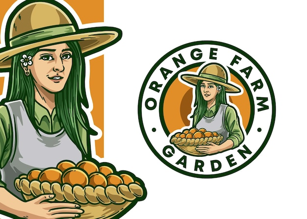 Farmer maskottchen logo illustration