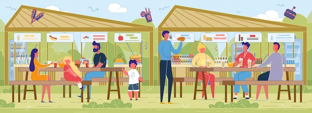 Farmers fairs food court.