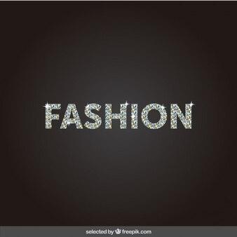 Fashion beschriftung mit diamanten