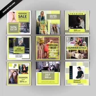 Fashion discount social media beitrag