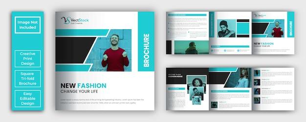 Fashion lookbook broschüre mit quadratischer größe