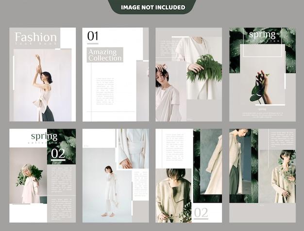 Fashion lookbook broschüren vorlage