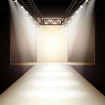 Fashion runway hintergrund