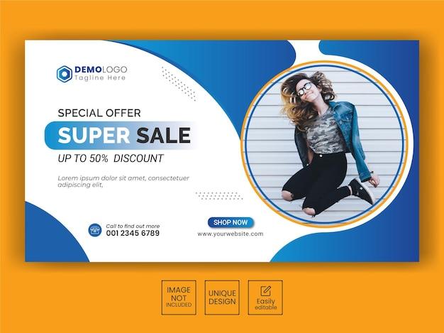 Fashion sale banner für social media facebook cover und webwerbung