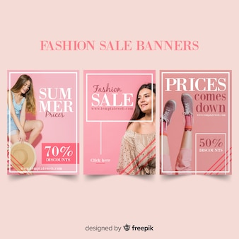 Fashion sale banner sammlung