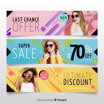 Fashion sale banner sammlung