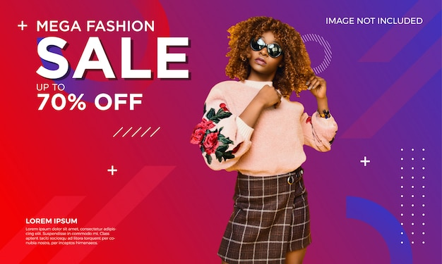 Fashion sale banner vorlage