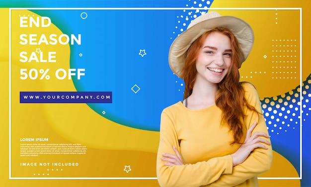Fashion sale banner vorlage