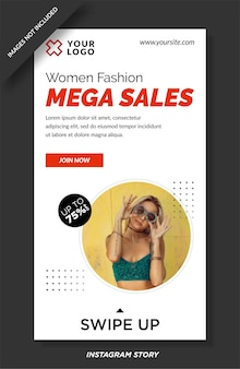 Fashion sale instagram geschichten vorlage