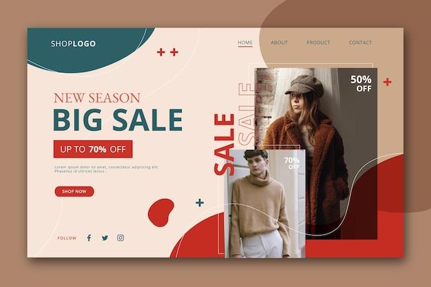 Fashion sale landing page konzept