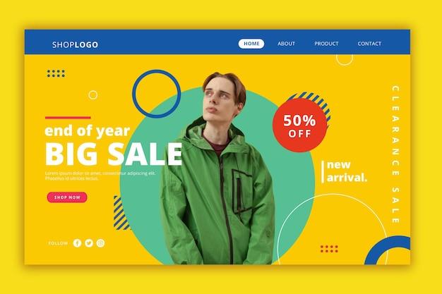 Fashion sale landing page thema