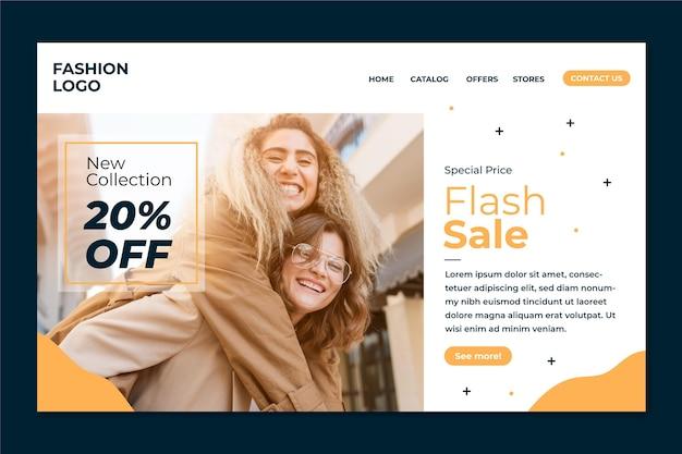 Fashion sale landing page vorlage