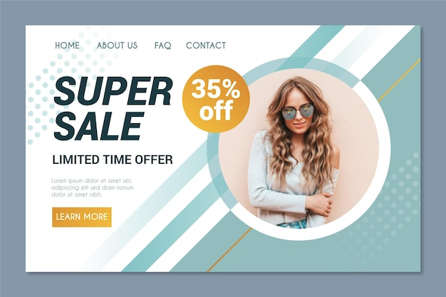 Fashion sale landing page vorlage