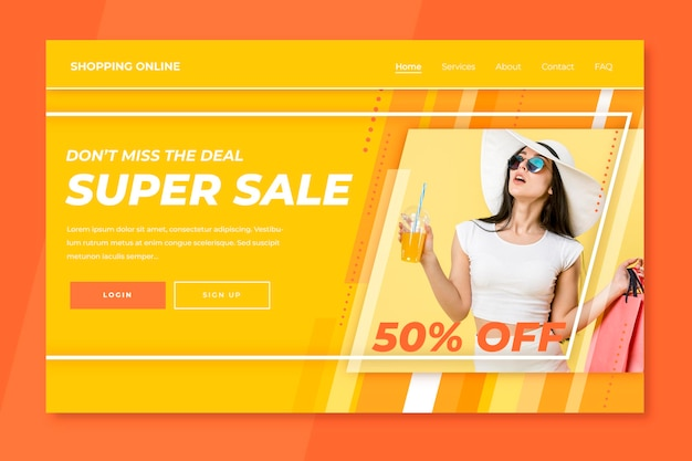 Fashion sale landing page Kostenlosen Vektoren