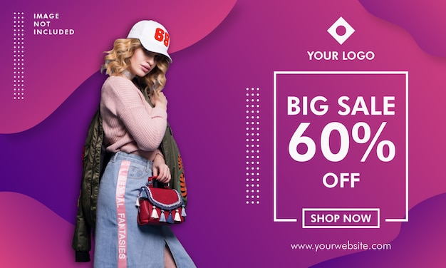 Fashion sale promotion banner vorlage