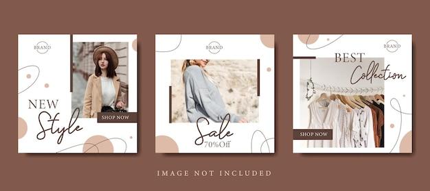 Fashion sale promotion social media post vorlage