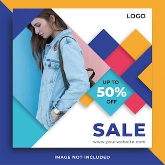 Fashion sale social media beitrag banner vorlage