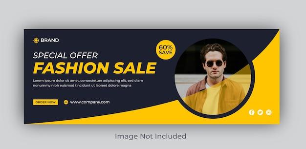Fashion sale social media facebook-cover oder shopping-web-banner-post-vorlage