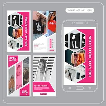 Fashion sale social media post-vorlage